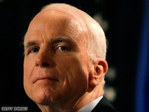 Sen. John McCain announced Wednesday that he is suspending his presidential campaign.