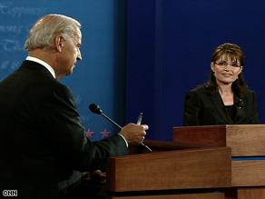 Sen. Joe Biden and Gov. Sarah Palin debate the issues Thursday night.