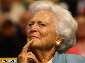 Former first lady Barbara Bush has been admitted to a Houston, Texas, hospital.