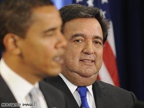 Obama officially named Richardson Commerce Secretary Wednesday.