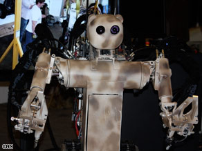 This remotely controlled robot, called BEAR, could help remove injured soldiers from battlefields.