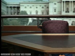 An Empty Chair on Meet the Press