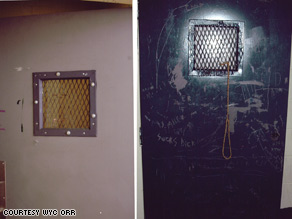 The room where Jonathan King hanged himself is shown after his death. It is no longer used, a school official said.