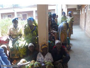 Rape victims wait for treatment at hospital.
