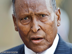 Abdullahi Yusuf Ahmed tried to fire his PM this month but later lost a confidence vote.