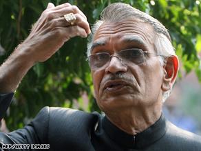 Indian Home Minister Shivraj Patil