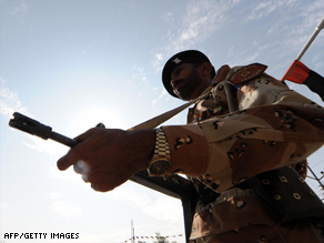 File image of a Pakistani soldier
