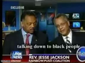 The Rev. Jesse Jackson apologized Wednesday for remarks about Barack Obama.