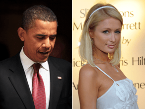 Obama once compared himself to Paris Hilton.