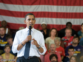 Obama pushed for his energy rebate plan Friday.