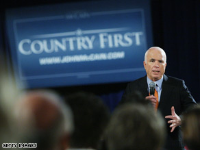 McCain said the United States should stand 'courageously' with Georgia.