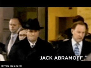 Obama's campaign is out with a tough new campaign ad featuring Jack Abramoff.