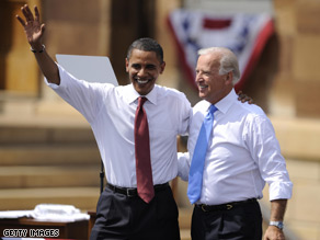 Biden has been on the road defending Obama's record.