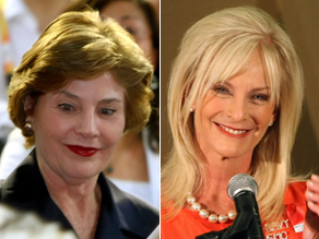 Laura Bush and Cindy McCain will address the convention.