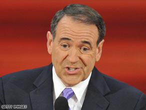 Former Republican presidential candidate Mike Huckabee spoke at the RNC earlier this evening.
