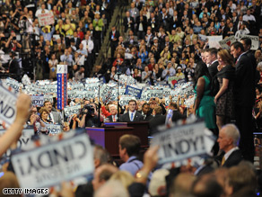 The crowd cheered for Cindy McCain and her family Thursday night.
