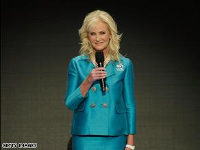 Cindy McCain spoke Thursday night in St. Paul.