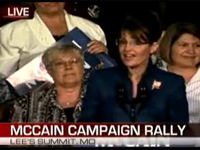 McCain and Palin are campaigning in Missouri.