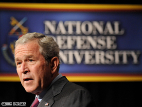 President Bush announced that he plans to withdraw 8,000 U.S. troops from Iraq by February, 2009 .