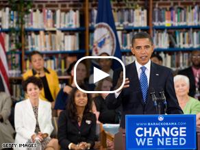 Obama speaking in Virginia Wednesday.