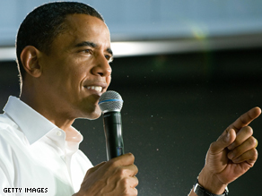 Obama is campaigning in Virginia.