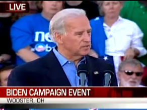 Joe Biden is campaigning in Ohio.