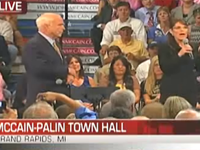 John McCain and Sarah Palin are holding a town hall in Michigan.