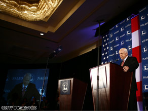 Sen. McCain spoke to a Latino political group in June.