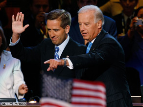 Sen. Joe Biden will see his son Beau off on Friday at the deployment ceremony.
