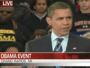 Obama's campaigned in Michigan Thursday.