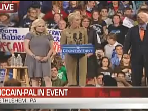 McCain and Palin stumped in Pennsylvania.