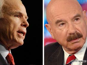 Right: Sen. John McCain.  Left: G. Gordon Liddy.