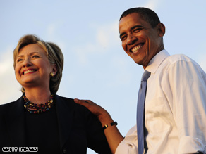 Clinton and Obama campaigned together in Florida Monday.