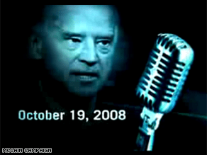 The McCain campaign is targeting Biden's comments in a new ad.