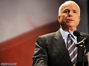 McCain is campaigning in Ohio Sunday, a state that is a must win for the Arizona senator.