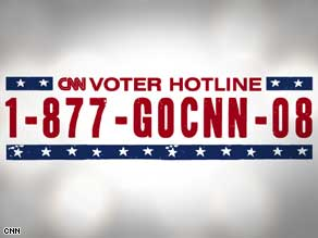 Call CNN's voter hotline with your concerns or problems with voting.