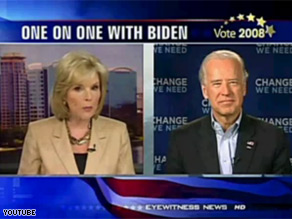 Sen. Biden had an interview with Barbara West Thursday.