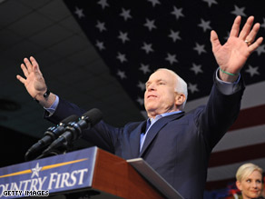 Sen. McCain spoke in Sarasota, Florida Friday.