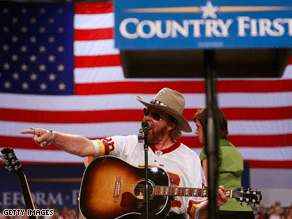 Hank Williams, Jr. has performed at several McCain-Palin campaign events.