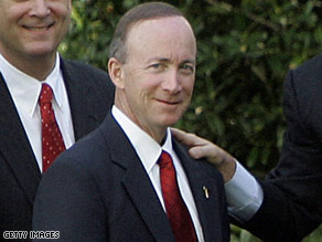Indiana Governor Mitch Daniels.