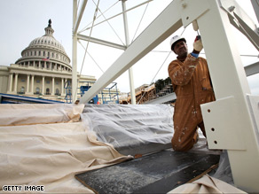 Preparations are underway for the 2009 Presidential Inauguration.
