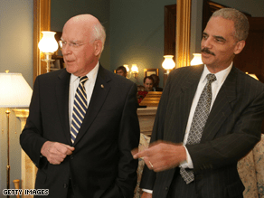 Sen. Patrick Leahy, left, will oversee Holder's hearing before the Judiciary Committee .