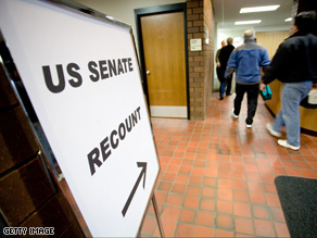 Recount begins in tightly-contested Minnesota Senate race.