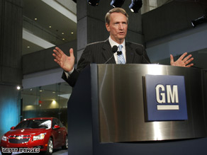 GM Chairman and CEO Rick Wagoner held a press conference Friday after news of the Bush administration's auto bailout plan was released.