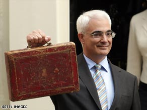 Alistair Darling says Britain's economy is facing its worst crisis in 60 years.