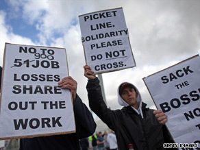 Protesters gathered outside Total's Lindsey oil refinery on Friday, June 19, after hundreds of striking workers were sacked.
