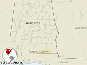 The FBI is assisting the Geneva County, Alabama, sheriff's office and police in the investigation.