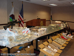 One anti-drug operation in Atlanta netted $10.6 million, 108 kilos of cocaine, 17 pounds of meth and 32 weapons.