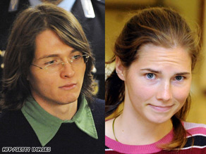 Both Raffaele Sollecito (left) and Amanda Knox deny charges of murder and sexual assault.