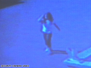 A surveillance video shows Sandra Cantu skipping and swinging her arms in the mobile home park where she lives.